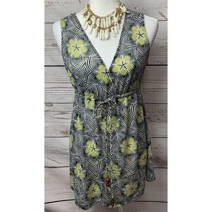 EUC NYC Geometric & Floral Tank Top Size XL
